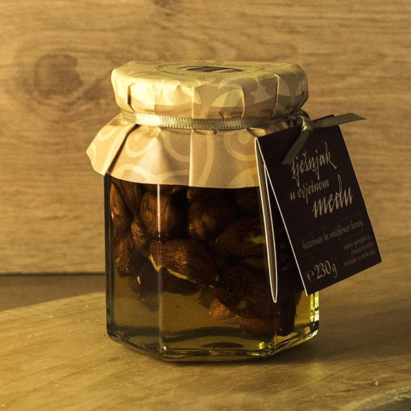 Apitrade Hazelnuts in Wildflower Honey